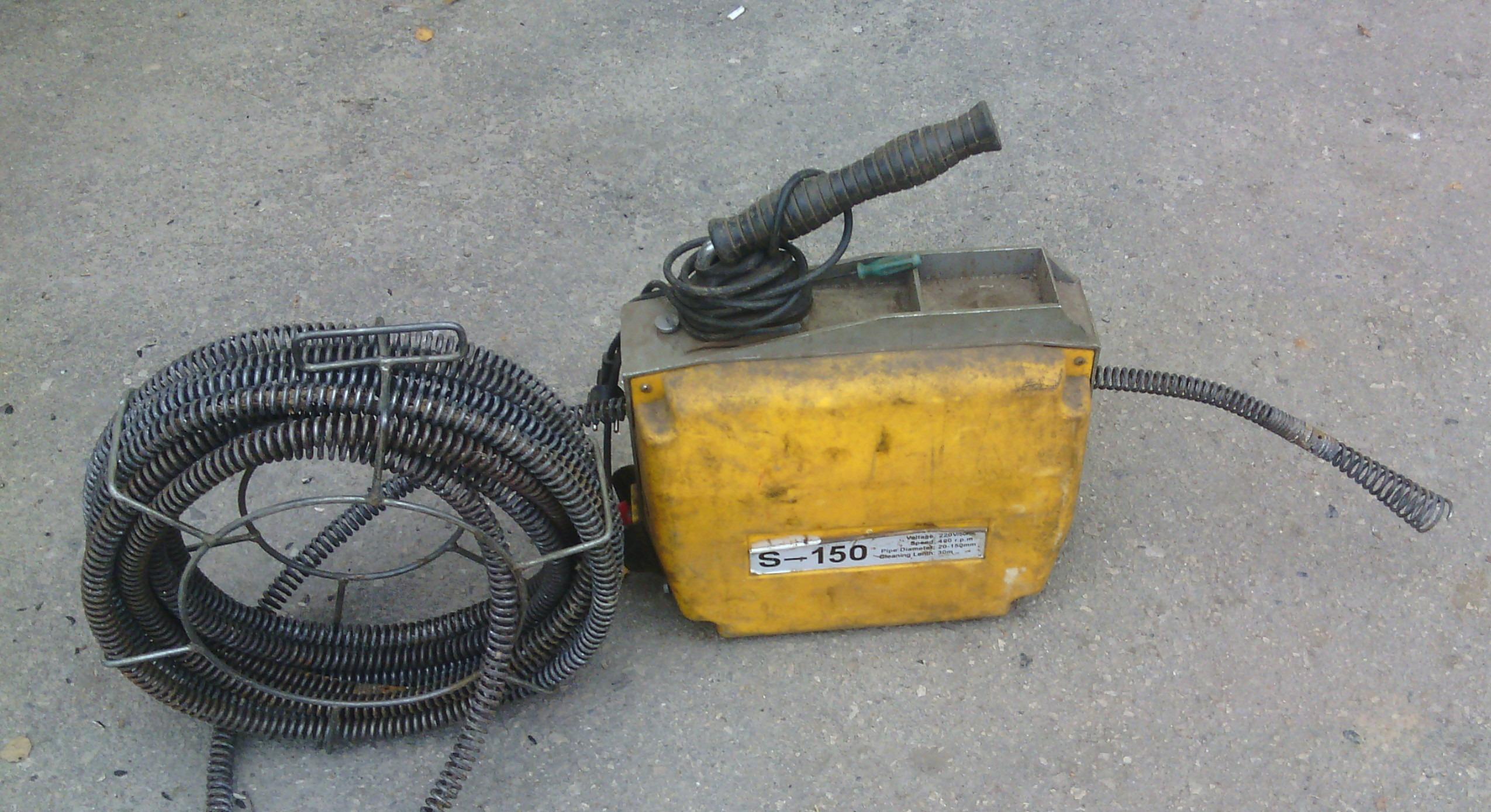 электромеханическая прочистная машина канализации